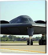 A B-2 Spirit Taxis Onto The Flightline Canvas Print