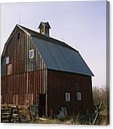 A Barn On A Farm In Nebraka Canvas Print