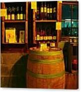 A Barrel And Wine Canvas Print