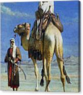 A Bedoueen Family In Wady Mousa Syrian Desert Canvas Print