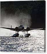 A Beechcraft D-18s Floatplane ,built Canvas Print