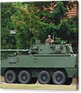 A Belgian Army Piranha IIic Canvas Print