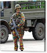 A Belgian Infantry Soldier Handling Canvas Print