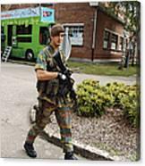 A Belgian Soldier On Patrol Art Print By Luc De Jaeger