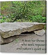 A Bench For Those Who Seek Repose Canvas Print