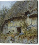 A Berkshire Cottage  Canvas Print
