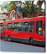 A Bevy Of Buses Canvas Print