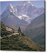 A Blue Sky And Mountain Range Canvas Print