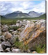A Boulder Near Loch Garve Canvas Print