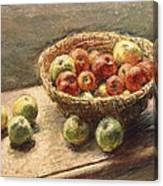A Bowl Of Apples Canvas Print
