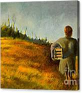 A Box And Figure Canvas Print