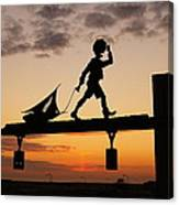 A Boy And His Boat. Canvas Print