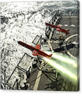 A Bqm-74e Aerial Drone Launches Canvas Print