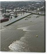 A Breech In A New Orleans Levee Floods Canvas Print