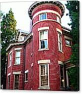 A Brick House With A Turret Canvas Print