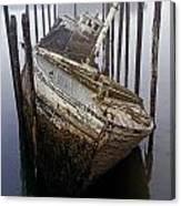 A Broken Boat Canvas Print