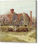 A Buckinghamshire House At Penstreet Canvas Print
