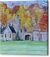 A Castle In Autumn. Canvas Print