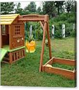 A Childs Playing Equipment In A Green Location Canvas Print