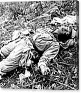 A Chinese Soldier Killed Canvas Print