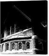 A Church On A Dark Night Canvas Print