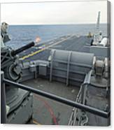A Close-in Weapons System Fires Aboard Canvas Print