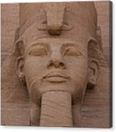 A Close View Of The Face Of Ramses IIs Canvas Print