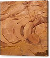 A Close View Sandstone Rocks Of Petra Canvas Print