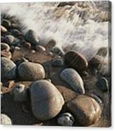 A Close View Time Exposure Of Surf Canvas Print
