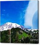 A Cloud Near Mt Rainer  Canvas Print
