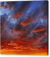 A Cloudy Sunset Canvas Print