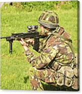 A Coldstream Guard Training In Scotland Canvas Print