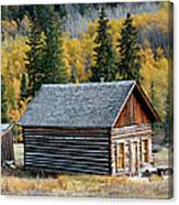 A Colorado Cabin Canvas Print