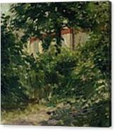 A Corner Of The Garden In Rueil Canvas Print
