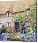 A Cottage Garden In Full Bloom Canvas Print