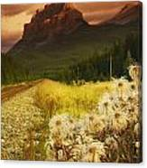 A Country Road With A Mountain In The Canvas Print