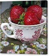 A Cup Of Strawberries Canvas Print