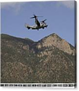 A Cv-22 Osprey Flies Over The 2007 Canvas Print