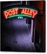 A Dark And Lonely Post Alley - Seattle  Canvas Print