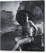 A Day At The Beach 1911 Canvas Print