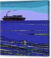 A Distant Ship Canvas Print
