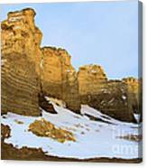 A Dusting On Monument Rocks Canvas Print