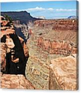 A Face In The Rock Canvas Print