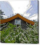A Flowery House In Norway Canvas Print