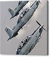 A Formation Of Iraqi Air Force T-6 Canvas Print