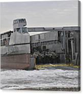 A French Landing Craft Comes Ashore Canvas Print