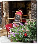A French Restaurant Greeting Canvas Print