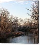 A Frosty Morning On The Elkorn Creek Canvas Print
