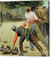 A Game Of Bourles In Flanders Canvas Print