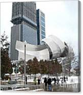 A Gehry Winter Canvas Print
